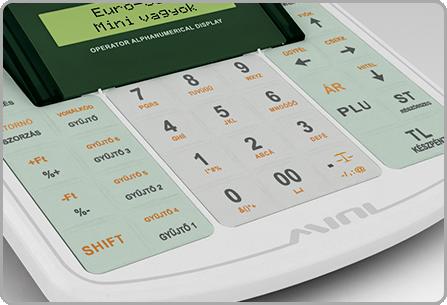 Ellenálló cseppmentes billentyűzet - Euro-50TE Mini online pénztárgép