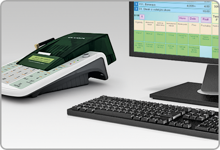 Számítógép kapcsolat - Euro-50TE Mini online pénztárgép